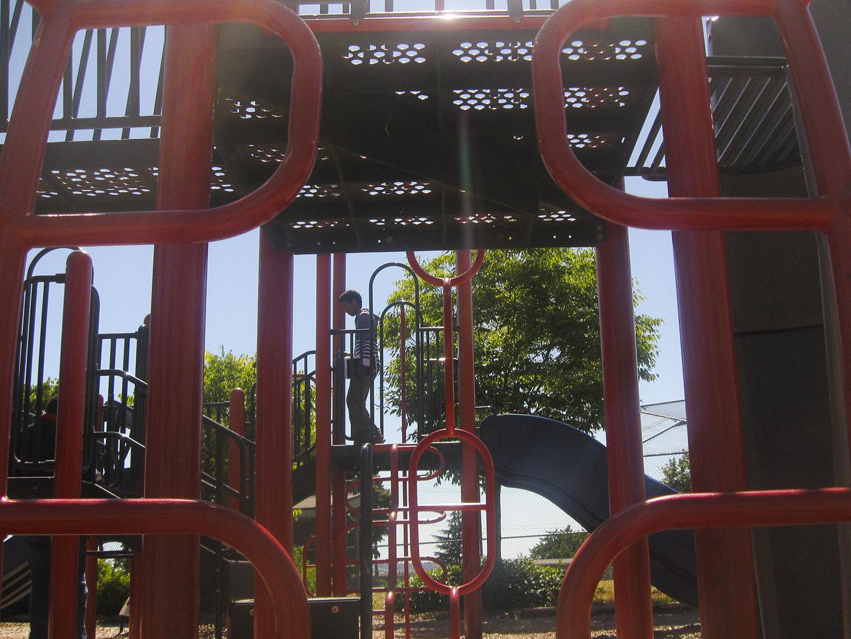 Playground behind the Community Center